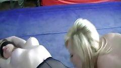 Two milfs having a bit of fun in black pantyhose