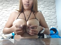 Huge boobs milk