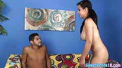 Bigtitted teen doggystyled on all fours