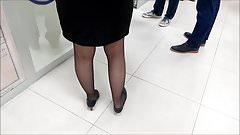 Turkish Black Pantyhose Legs 2