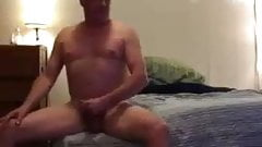 str8 married action: man playing in hotel room