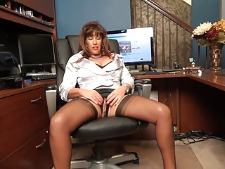 Sexy Realtor Showing Her Assets