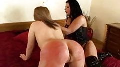 Submissive lesbian punished