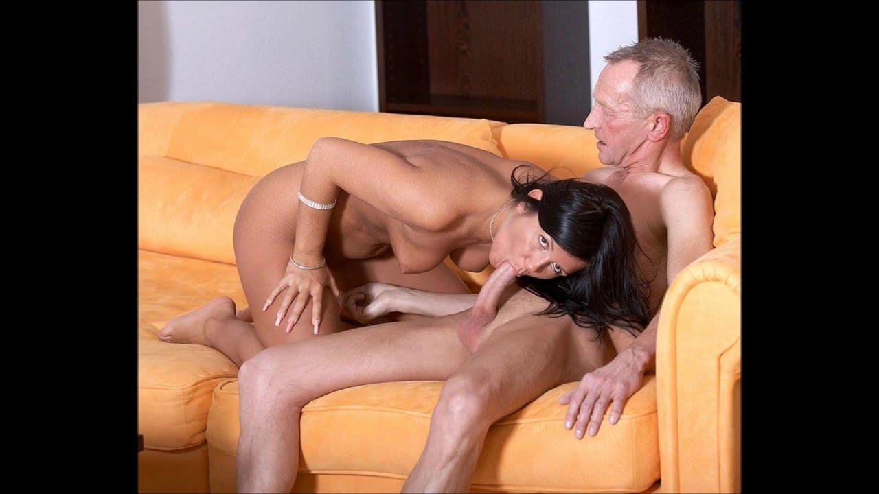 Смотреть порно старик трахает жестко брюнетку онлайн