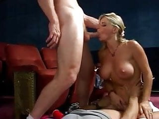 Vicky Vette Hot Threesome In A Cinema