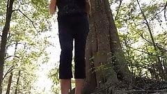 lungkondoi girl public camera in the wood