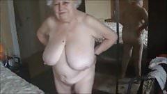Old nude grandma with big boobs