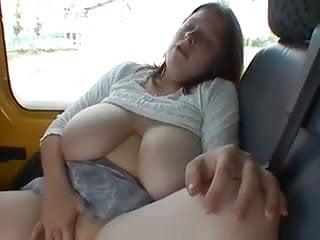 Big Tit Amateur in Car Park with Guy