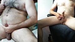 Skype Wank with Hairy Turkish Stud