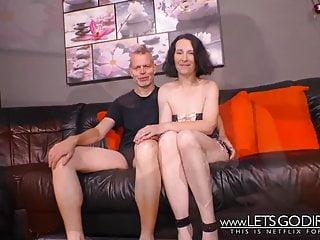 Deutsche echte Paare vor der Kamera