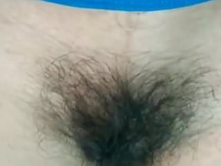 Indian hot girl from indore showing her hairy pussy.