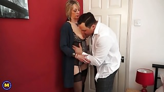 Horny Grandma suck and fuck younger guy