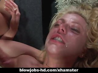 Horny slut Angela Stone gets throat fucked hard