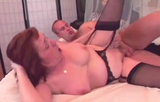Видео hot granny in black stockings fucking younger by troc порно