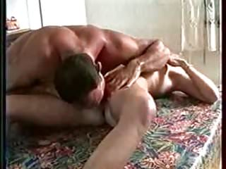 Horny real french amateur couple on the living room table