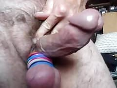 Curved thick small dick jacking off close up sexy view