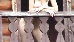 Gorgeous Young Girl Gets Naked On The Balcony