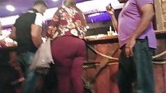 Candid big ass standing at the bar