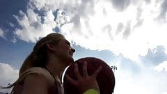 Allie Rae Playing Basketball