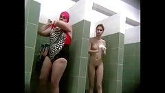 Pool showers, Big woman spied