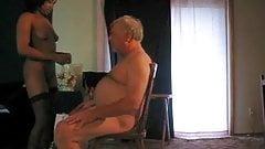 Grandpa getting a blow job