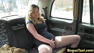 Amateur sucks cock in cab before fucking