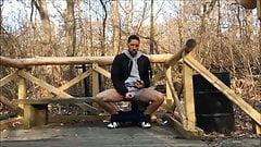 eyacular en el parque