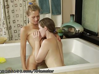 Lesbian Masseuse seduces Straight Girl Zoey