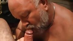 Daddy bear enjoys cock
