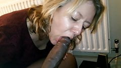 She sucks my black dick again