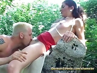 Picked up dame fucked in forest