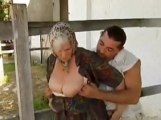 Preview 1 of 2 Farm Grannies seduced by young man