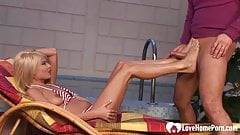 Blonde woman is great at feet cock pleasing.mp4