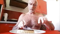 je mange une quiche