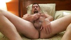 Horny bear jerking off