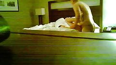 Married co-worker fucked in hotel and received anal creampie