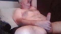 Handsome dominant bear masturbates
