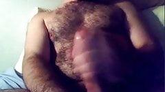 BIG DICK BIG CUMSHOT ON HAIRY CHEST