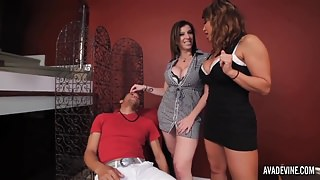 PornstarPlatinum - Ava Devine and Sarah Jay with young boy