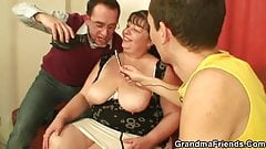 Two guys interview and fuck fat bitch