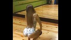 blonde girl shake little ass