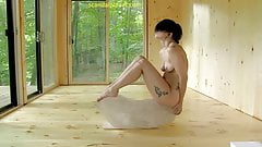 Lady Gaga Practicing The Abramovic Method ScandalPlanet.Com