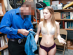 Teen Chick Fucks Guard After Getting Caught Stealing