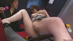 Busty Ayami Gets Help With Some Sex Toys