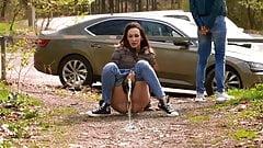 Girls Roadside Pissing