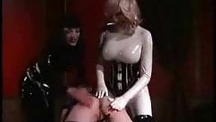 Latex spanking