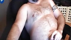Bear strokes and cums