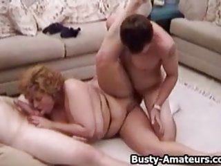 Busty amateur Mindy Jo railed by two cocks
