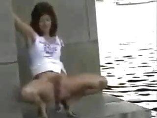 hairy slutwife fleshing on public