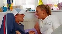 British Chav's involved in a lesbian scene